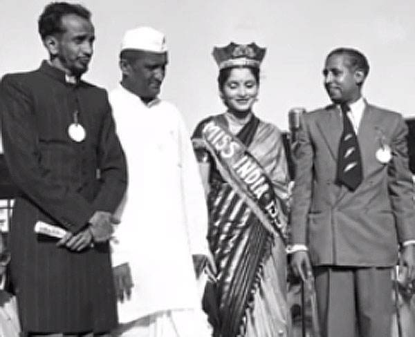 MR F.E Patanwala with Miss India, Indrani Rehman, June 28th 1952.