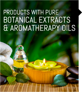 Bath and Body Products with Botanical Extracts and Aromatheraphy Oils